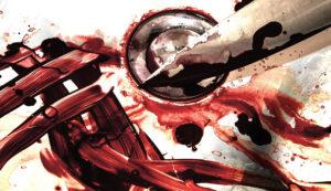 кровь удар ножом